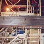 Zuschlagstoffanlage, Treppenübergänge