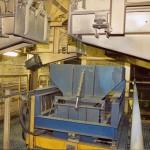 Zuschlagstoffanlage, Wiegebehälter mit Fahwerk