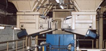 Zuschlagstoffanlage, 4x4m³ Bunker